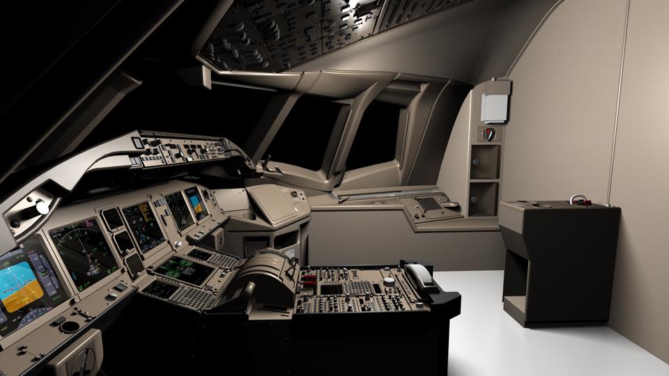 777 3D Cockpit XP Jets