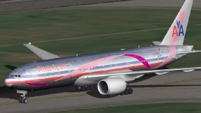 American Airlines Breast Cancer Research 777-223ER